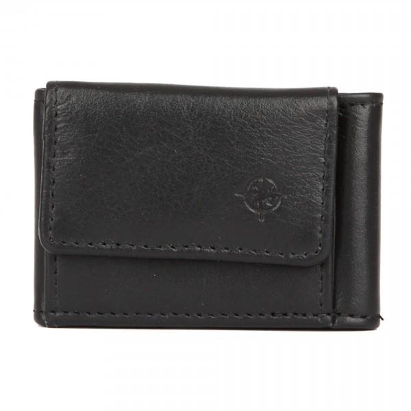 City Mini - Geldbörse Leder schwarz