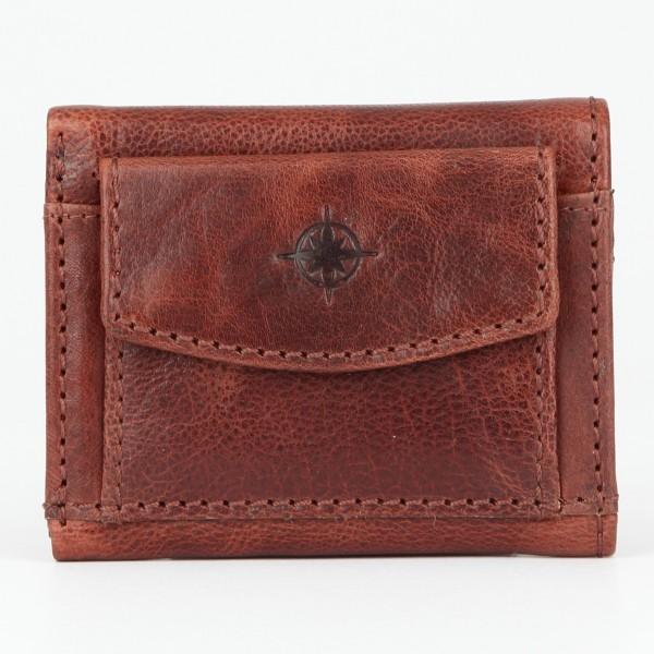 Texas Minigeldbörse Leder braun