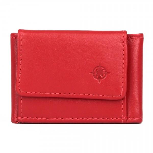 City Mini - Geldbörse Leder rot